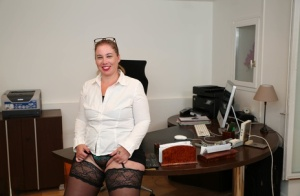 Big assed business woman has sex with two male employees in her office 90510106