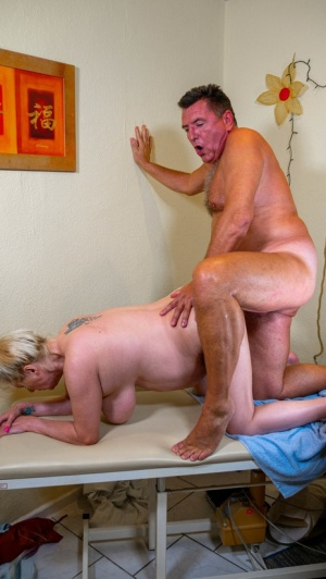Overweight German housewife gets banged by her masseur during a massage 19578996