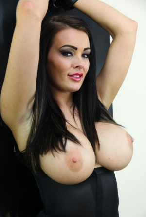 Big titted beauty Charley Atwell stands up while affixed in place 58771136