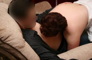 Big titted older lady Kinky Carol sucks off her younger lover
