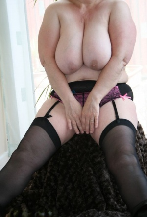 Older BBW Kinky Carol touches her snatch after showing her huge breasts 20224710