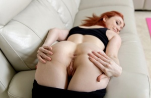 Flexible redhead Scarlet Skies gets banged POV style after doing yoga