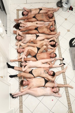 Bisexual British persons take part in an everybody fucks everybody orgy