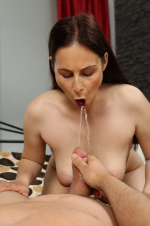 Horny girl Antonia Sainz entices her man friend into playing pee games