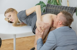 Skinny schoolgirl and her tutor partake in a bout of rough sex 90263278