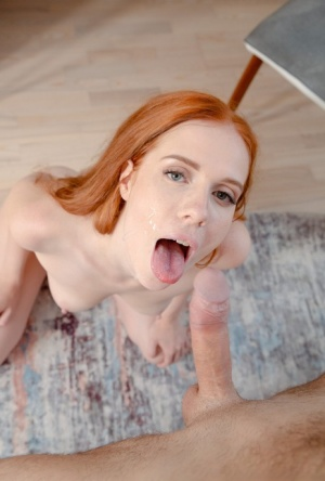 Pale redhead Holly Molly engages in sexual relations with her boyfriend
