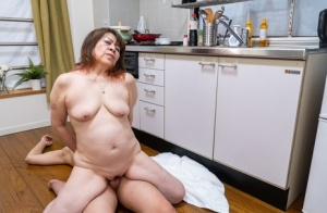 Older amateur gets completely naked while having hardcore sex with a young boy