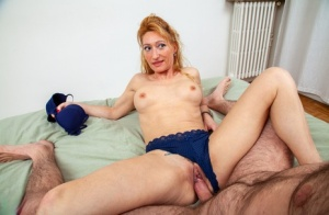 Older redhead seduces her stepson for a bout of hardcore sex