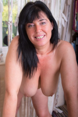 Mature British woman Juicey Janey sucks and fucks a dick in close-up action