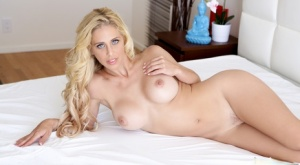 Sexy Cherie Deville in closeup doggystyle fuck with cum on her pretty face
