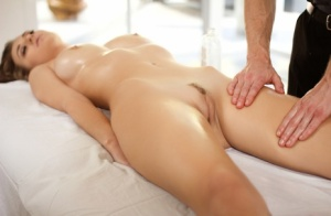 Natalia Starr has her naked body rubbed down before moving onto hard fucking 29930972