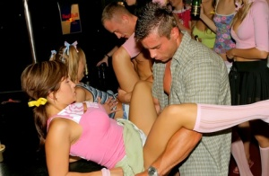Party girls get looser than loose with male strippers on the menu