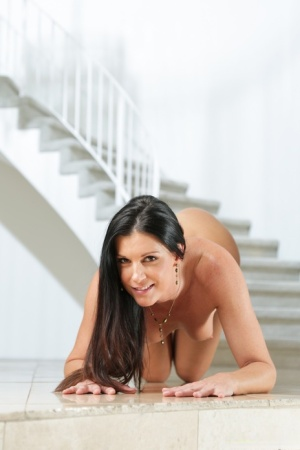 Raunchy mature stunner simply enjoys showing off her slim body