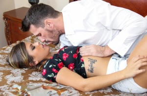 Busty girl Keisha Grey drips cum from chin and tongue after hard sex 35736661
