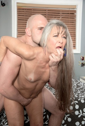 Small boobed mature slut Leilani Lei gets her muff eaten out and dicked