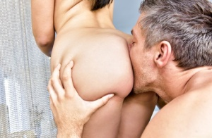 Fair skinned female Valentina Nappi goes ass to mouth after being rimmed