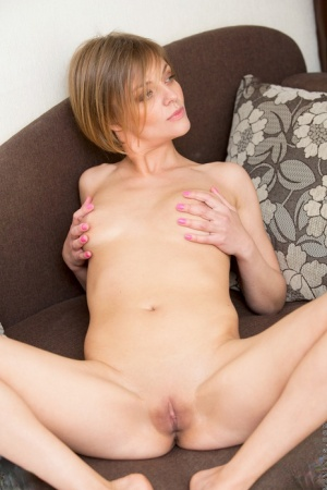 Mature mom in bare feet undressing to show saggy tits  bald beaver 17722534