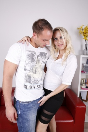 Leggy German housewife cheats on her husband with a younger man