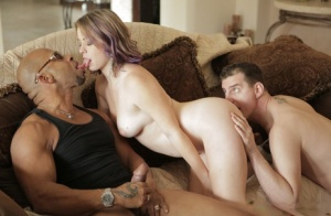Kinky couple Shane Diesel  Sierra Sanders have a 3some with a black man