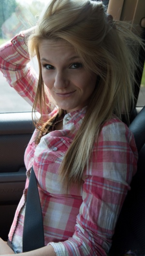 Young blonde girl Hope Harper sucks and fucks her way to a free ride