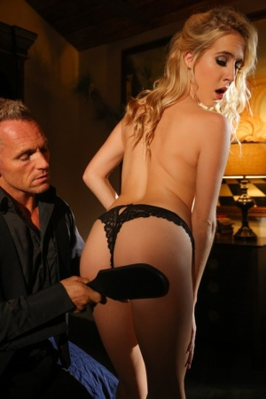 Blonde pornstar Cadence Lux ass spanked after being seduced for hard fuck