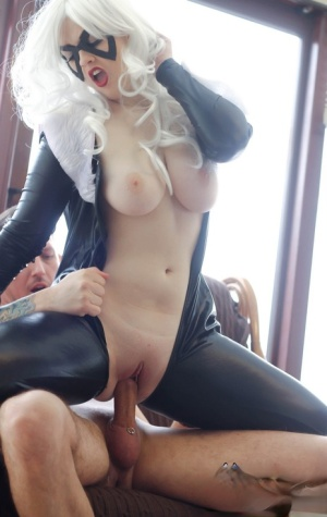 Cosplay slut Jaye Rose in crotchless latex giving blowjob fucking cowgirl 32325610