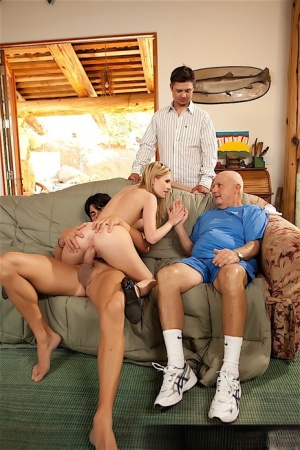 Hot blonde wife Amiee Addison sucks and fucks another man afore her husband