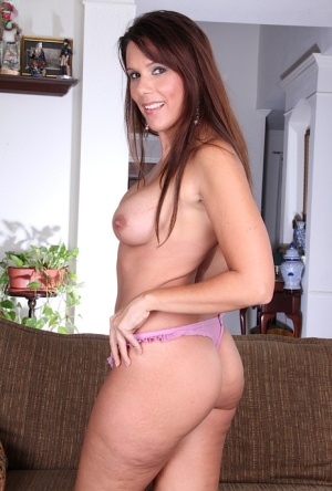 Middle aged amateur Dylan Dole gets busy with dildo insertion after stripping 53025290