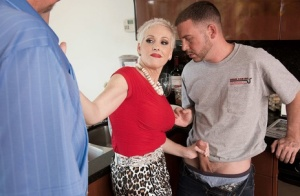 Mature Kimber Phoenix excites the plumber to cuckold her hubby in the kitchen 22554464
