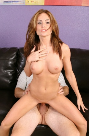 Redhead amateur is stripped naked before straddling her man friends cock
