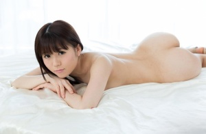 Nude Japanese girls get together and hump each other on motel bed