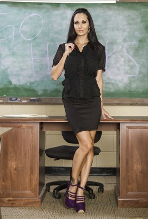 Lovely teacher named Ava Addams is one hell of very horny milf