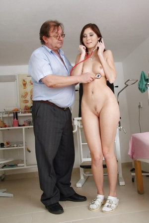 Lovely young vixen Kattie Gold adores fetish and visits to her gyno