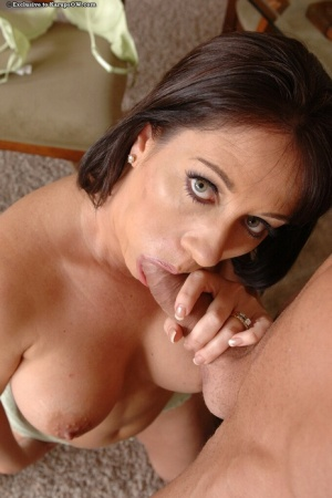Hot mature mom with big tits Sandy Beach swallows really good