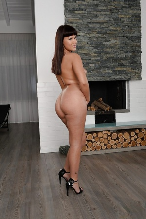Brunette European girl Ava Dalush is showing her sexy ass 23151290
