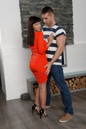 Skinny big tits babe Ava Dalush is fucking hard with her man 65061472