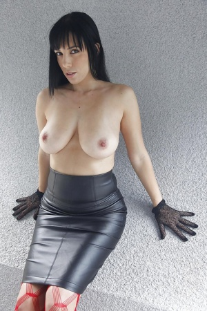 Amazing milf Jelena Jensen prefers posing and playing with tits