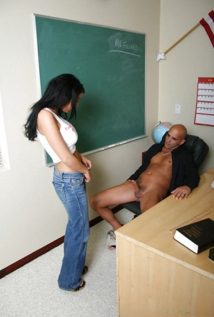 Big tit brunette Cody is giving a deep sloppy blowjob to that guy