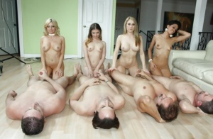 Christie Stevens and her friends have an awesome bukkake party