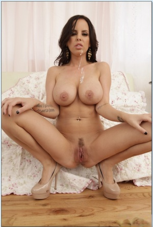 Lusty wife Brandy Aniston gives a blowjob and then fucks a huge dick
