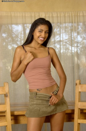 Undressing amateur scene features an Latina teen babe Gizelle