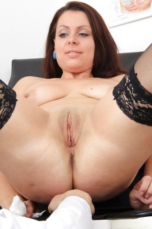 Gyno session with an perfect mature brunette Carmelita and her doctor 26431684