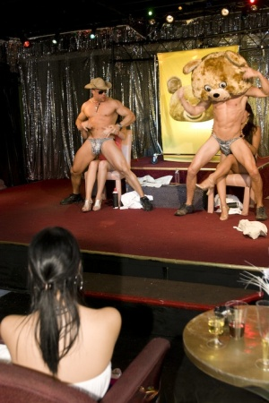 CFNM party with marvelous babes dancing and doing blowjobs