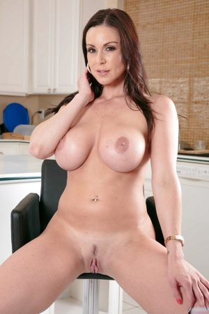 Gorgeous milf babe Kendra Lust showing big tits and ass in panties