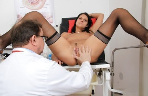 Mature chick Ruby is getting some gyno tools in her trimmed pussy 27434384