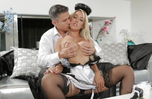 Stunning milf maid Capri Cavanni is fucking with her boss in the bed 39052630