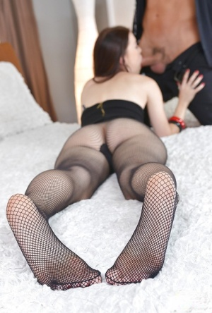 Teen Misha Cross is sucking her bosss hard prick and swallowing