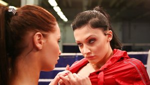 Aletta Ocean and Kissy get naked on a boxing ring to lick pussy 37124702