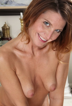 Milf Sky Rodgers shows off her shaved beaver in these daring photos