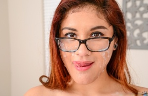 With her pierced tongue babe Selena Kyle gives the best blowjobs